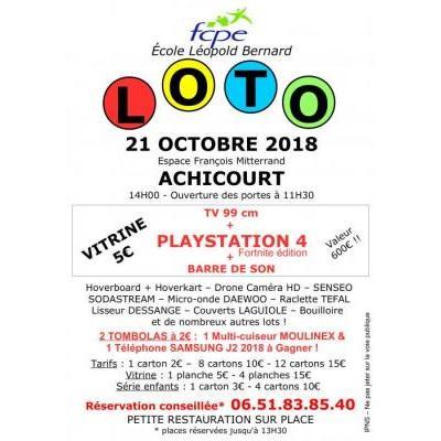 Grand loto FCPE école Léopold Bernard Achicourt