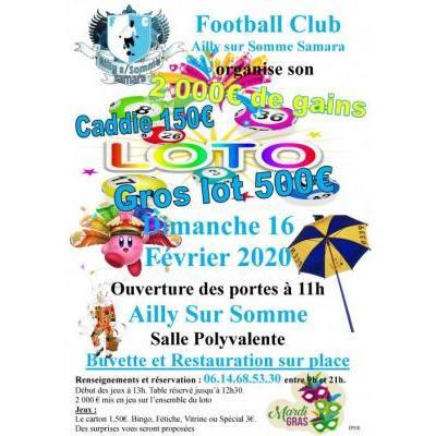 Loto de Février du FC Ailly Sur Somme Samara
