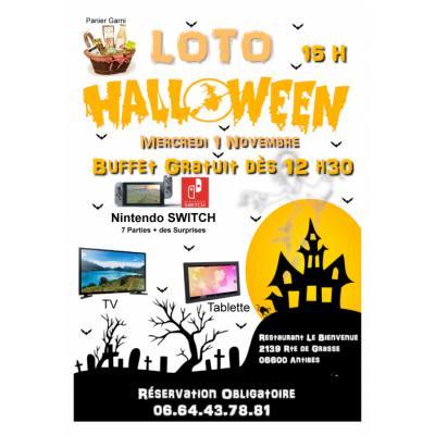 loto halloween avec buffet gratuit a gagner console nitendo switch,tv