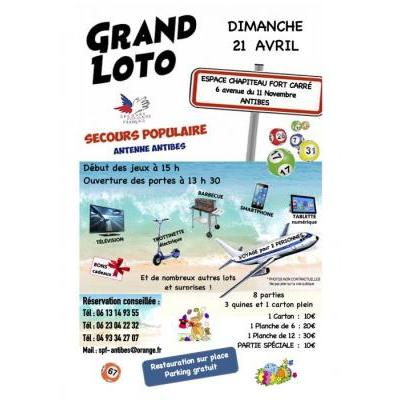 GRAND LOTO DU SECOURS POPULAIRE ANTIBES