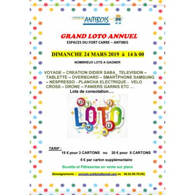 GRAND LOTO ANNUEL DE L'AMICALE DES ANTIBOIS