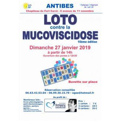 10ème LOTO contre la Mucoviscidose au profit Association Grégory LEMARCHAL