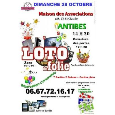 3eme loto de l association APA ordinateur portable,panier garni, ect...