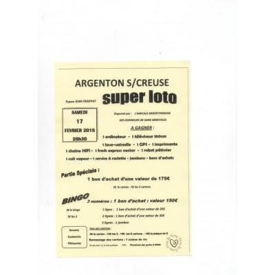 Loto 36 indre toutes les dates annuaire des lotos for Argenton sur creuse piscine