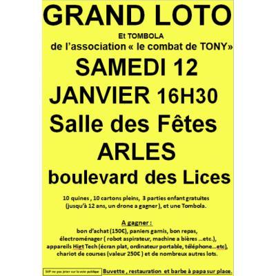 """Grand Loto de l'association """"Le Combat De Tony"""""""