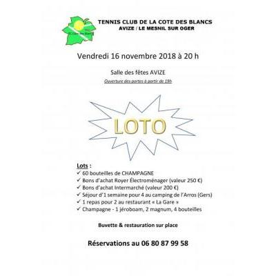 Loto du Tennis club de la Côte des Blancs
