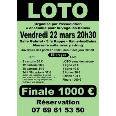 3200 € - 55 tirage - finale 1000 €