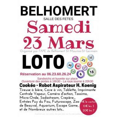 Loto de l'APE de Belhomert St Maurice St Germain