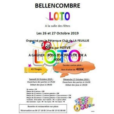 Loto organisé par le Pétanque Club de La Feuillie