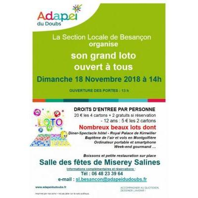 Grand loto ADAPEI du DOUBS