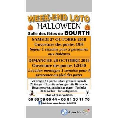 Week end Loto d'Halloween 27 et 28 octobre 2018