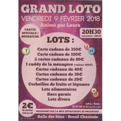 Affiche du loto à Breuil Chaussee (79) le 09/02/2018