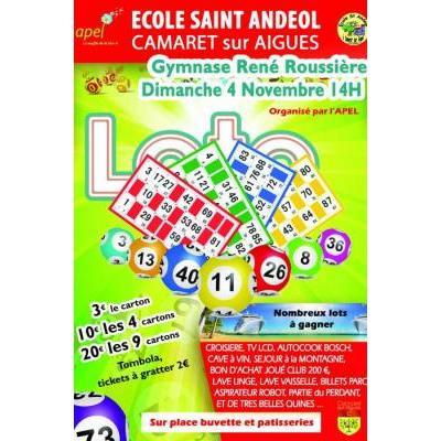 Super loto de l'école Saint Andeol