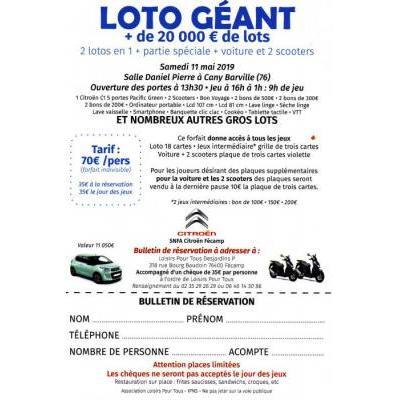 LOTO GEANT + de 20000€ de lots