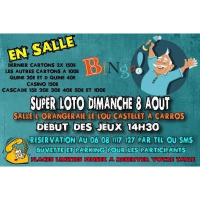 uper Loto bingo exclusivement bon d'achats à gagner à Carros