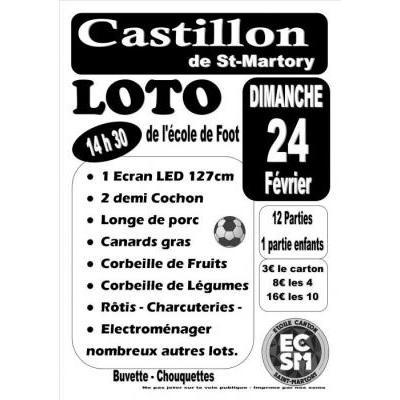 Loto de l'école de foot du canton de Saint-Martory