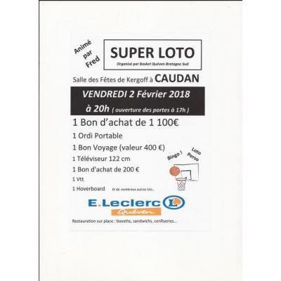 Affiche du loto à Caudan (56) le 02/02/2018