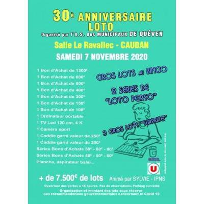 30ème Mega Loto Anniversaire des Municipaux de Quéven
