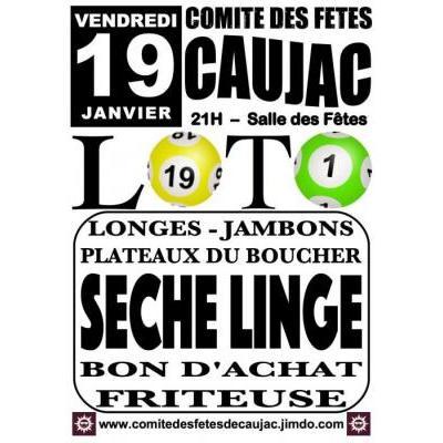 Affiche du loto à Caujac (31) le 19/01/2018