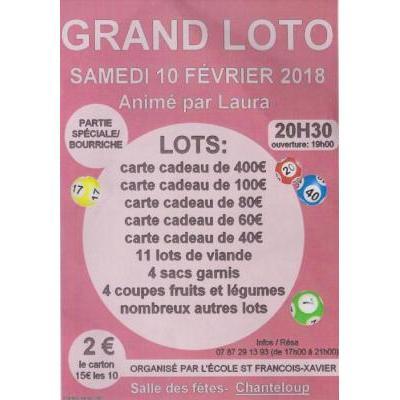 Affiche du loto à Chanteloup (79) le 10/02/2018