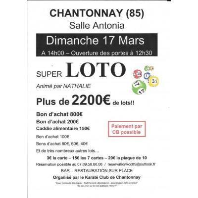 Loto du Karaté Chantonay