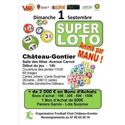 Super Loto animé par Manu 2 000 € en Cartes Cadeaux