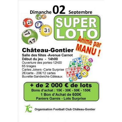 Super Loto animé par Manu  + de 2000 euros en bons d'achat
