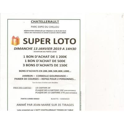 SUPER LOTO DE L'ASTT CHATELLERAULT TENNIS DE TABLE