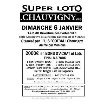 SUPER LOTO U.S FOOTBALL Chauvigny  Animé par Monique