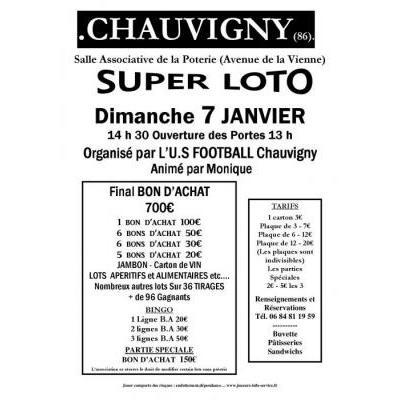 Affiche du loto à Chauvigny (86) le 07/01/2018