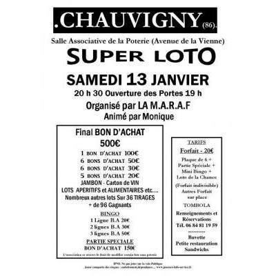Affiche du loto à Chauvigny (86) le 13/01/2018