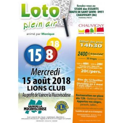 LOTO en Plein Air organisé LE LIONS CLUB au profit de VAINCRE LA MUCOVISCIDOSE