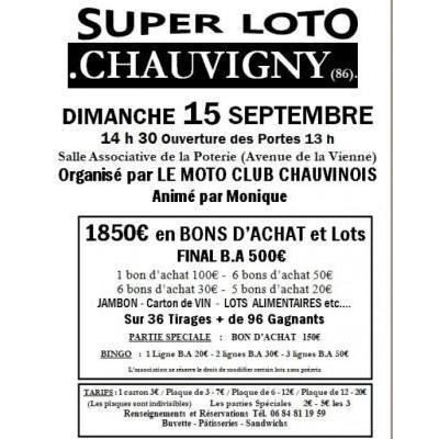LE MOTO CLUB CHAUVINOIS  Animé par Monique 1850€  en BONS D'ACHAT et Lots  FI