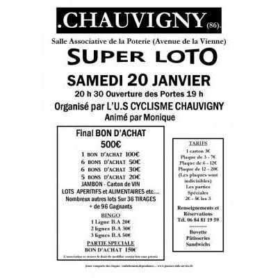Affiche du loto à Chauvigny (86) le 20/01/2018