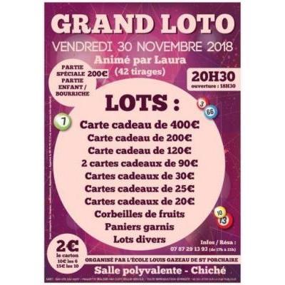 Super Loto Ecole Louis Gazeau de Saint Porchaire