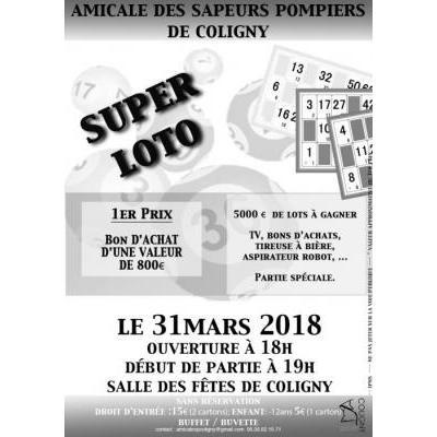 Super Loto de l'Amicale des Sapeurs Pompiers de Coligny