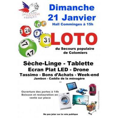 Affiche du loto à Colomiers (31) le 21/01/2018