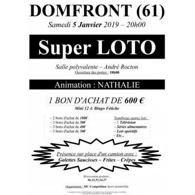 SUPER LOTO DOMFRONT (61) - Animation Nathalie