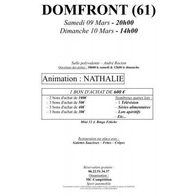 Double Super Loto - Domfront (61) - Animation Nathalie
