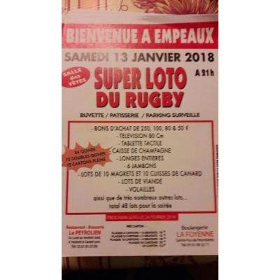 Affiche du loto à Empeaux (31) le 13/01/2018