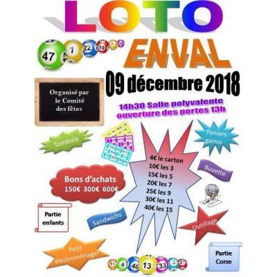 """Loto du comité des fêtes d'Enval le 9 décembre 2018"""""""