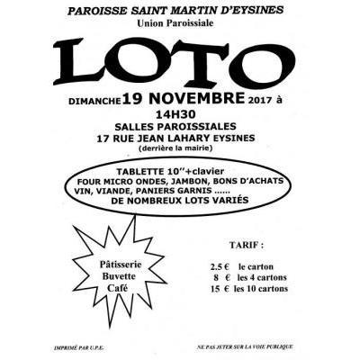 Affiche du loto à Eysines (33) le 19/11/2017