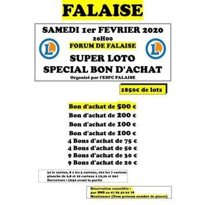 SUPER LOTO  SPECIAL BON D'ACHAT Organisé par l'ESFC FALAISE