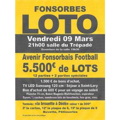 SUPER LOTO de l'Avenir Fonsorbais Football