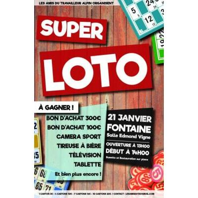 Super LOTO FONTAINE 21 Janvier