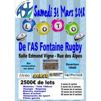 Loto de l'AS Fontaine rugby