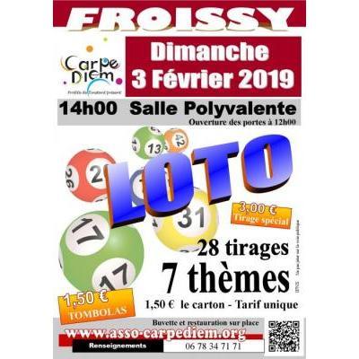 Loto de Carpe Diem Froissy du 03 février 2019