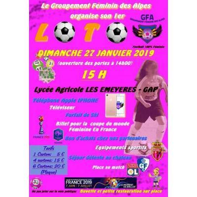 LOTO des Féminines FOOTBALL - 27-01-2019 LES EMEYERES GAP