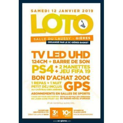 SC Gières Basket organise son loto annuel à la salle du Laussy