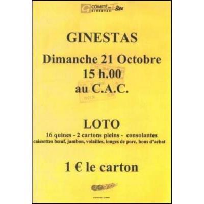 LOTO du Comité des Fêtes au Profit des Sinistrés de l'Aude